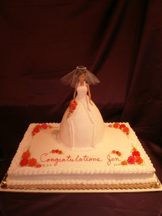 Barbie Sheet Cake Images : Herman s Bakery and Deli - Wedding Shower Cakes